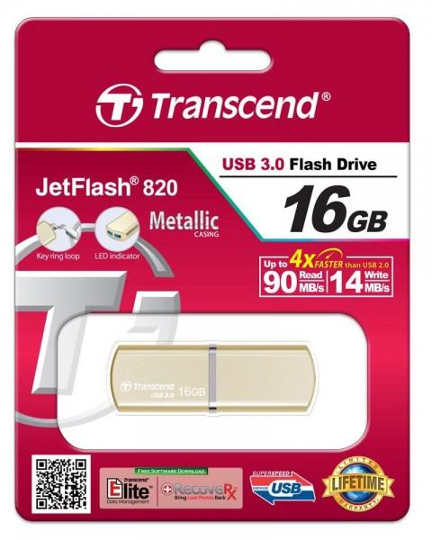 Transcend JetFlash 820 gold 16GB USB 3.0 TS16GJF820G