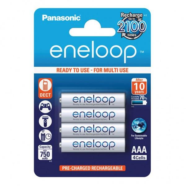 Panasonic eneloop 4er Akku Set AAA BK-4MCCE Blister