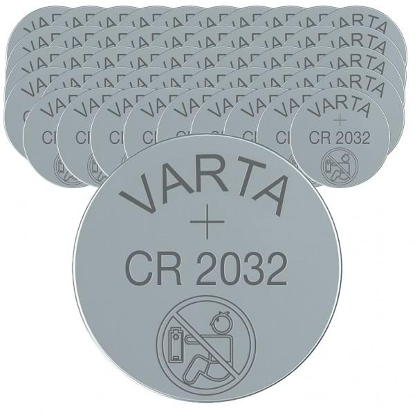 VARTA 50er Batterie Lithium Knopfzelle CR2032 3V bulk