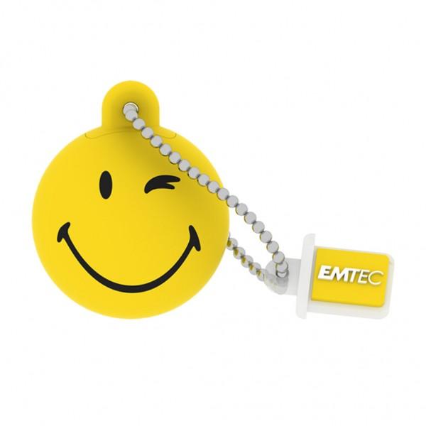 Emtec USB FlashDrive 16GB SmileyWorld -Take it easy- (Gelb)