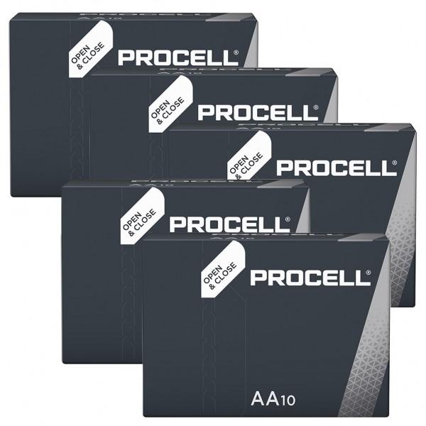 DURACELL 50er Industrial Batterien Alkalin Mignon AA