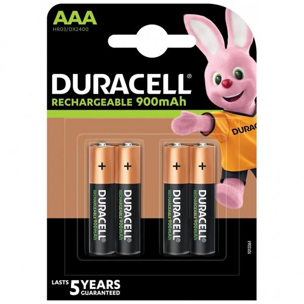 DURACELL Akku Micro AAA HR03 NiMH 1.2V 900 mAh 4er Blister