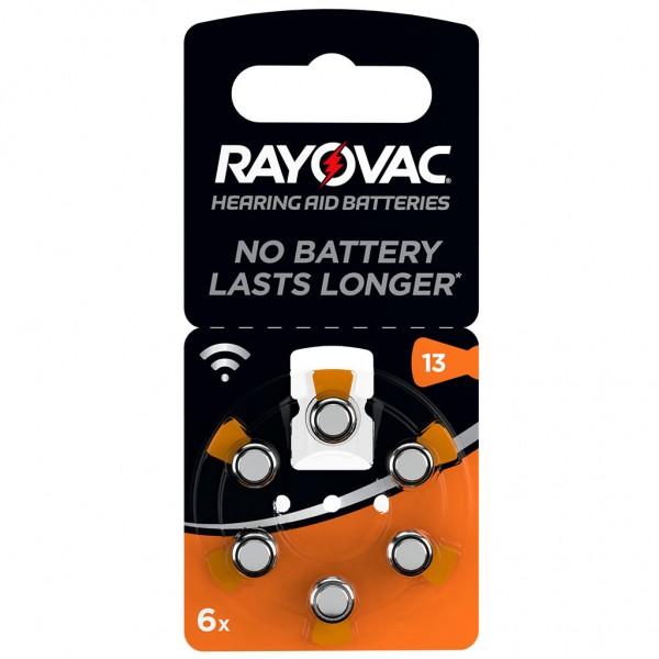 6 x RAYOVAC Hörgerätebatterie Zink - Luft Typ 13 1.45V 1 x 6er Blister