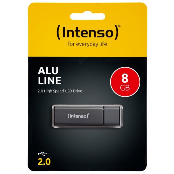 Intenso Alu Line 8 GB USB 2.0 Stick anthrazit