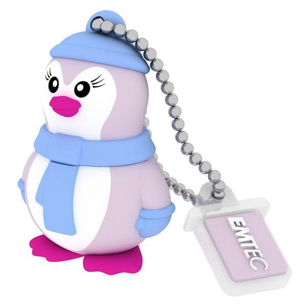 EMTEC USB FlashDrive 8GB Animalitos (Miss-Pinguin)