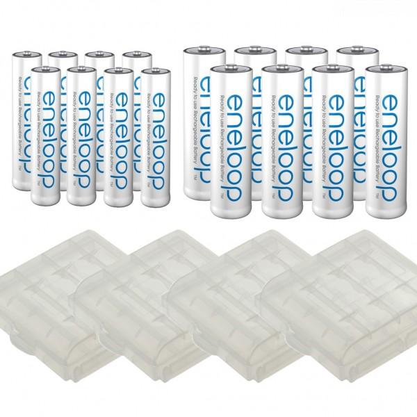 kQ Panasonic Eneloop Kombipack 8er AA + 8er AAA und Akkuboxen