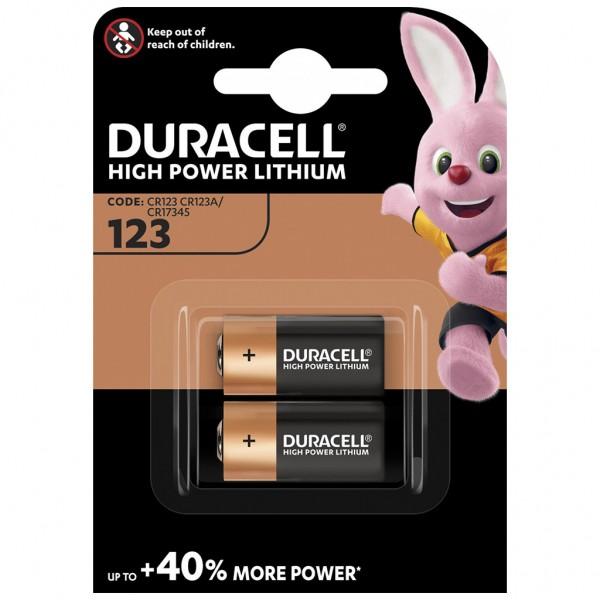 DURACELL 2er Blister Batterie Lithium CR123A 3V