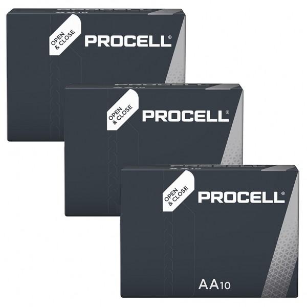 DURACELL 30er Industrial Batterien Alkalin Mignon AA
