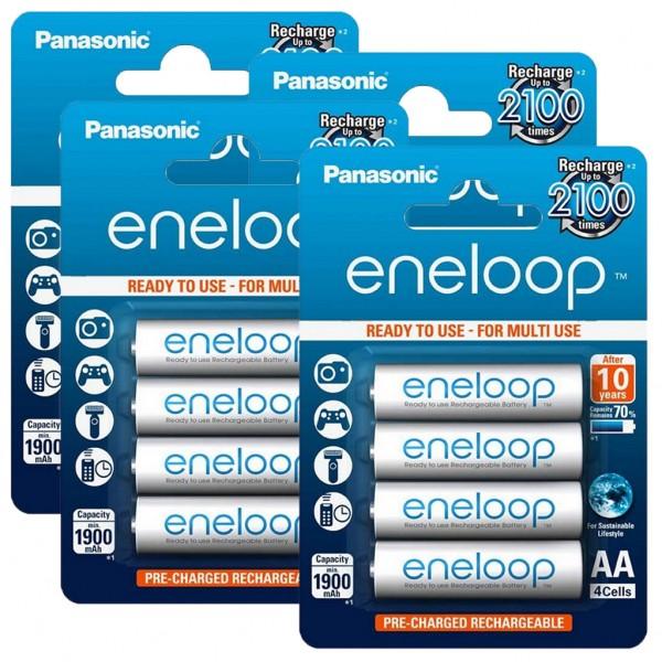 Panasonic eneloop 16er Akku Set AA BK-3MCCE Blister