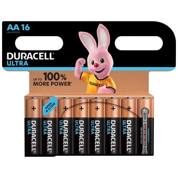DURACELL AA Ultra Power Batterie Alkaline Mignon LR06 1.5V 16er Blister