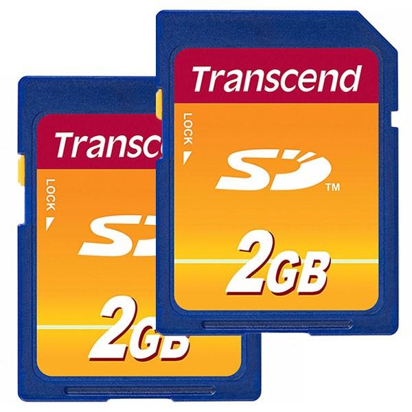 Doppelpack Transcend SD 2 GB Secure Digital Speicherkarte