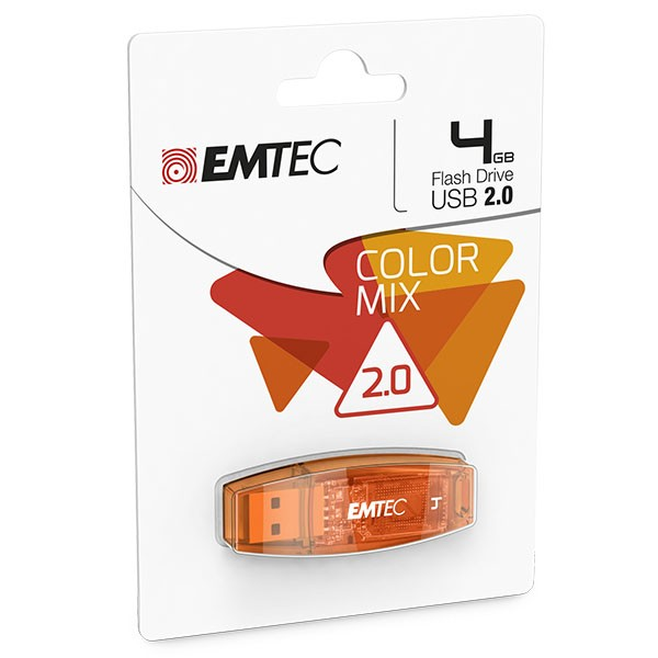 EMTEC USB FlashDrive 4 GB C410 (Orange) USB 2.0