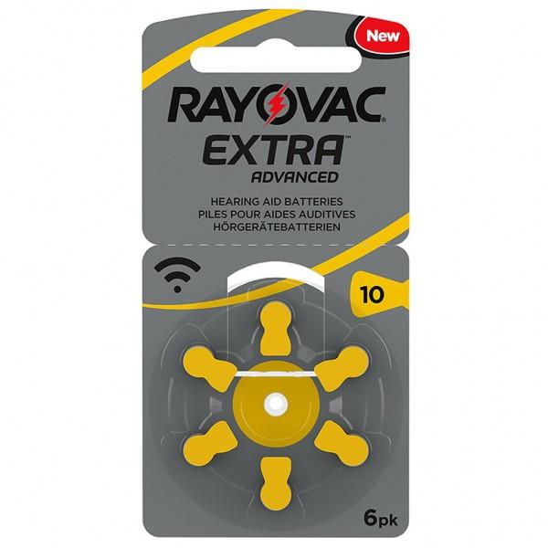 6 x RAYOVAC EXTRA Hörgerätebatterie Zink - Luft Typ 10 1.45V 1 x 6er Blister