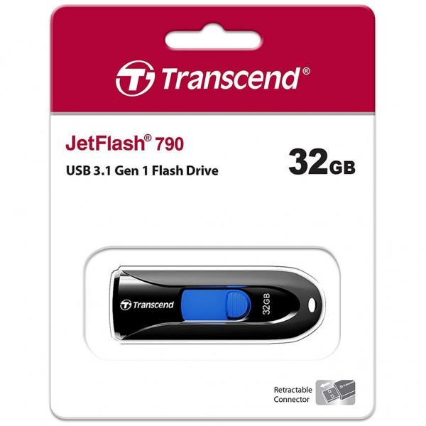 Transcend JetFlash 790 32 GB USB 3.0 Stick schwarz TS32GJF790K