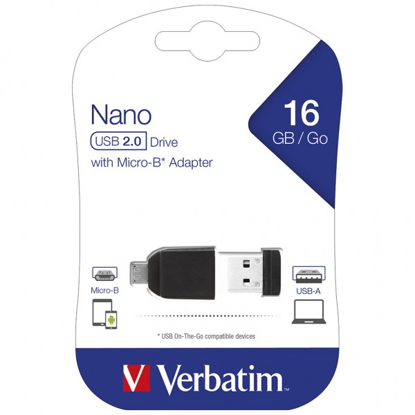 Verbatim USB OTG 16 GB Store 'n' Go Nano Drive