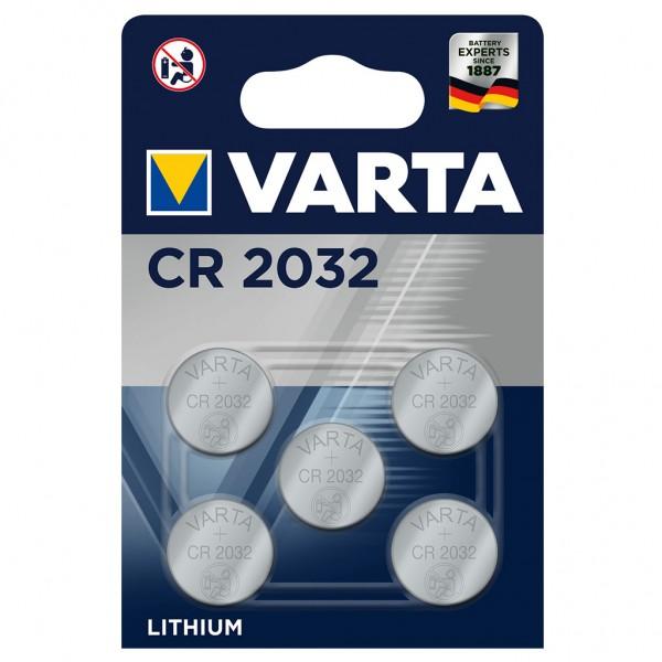 VARTA Batterie Lithium Knopfzelle CR2032 3V Professional Electronics 5er Blister