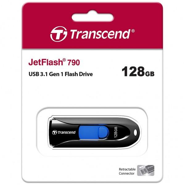 Transcend JetFlash 790 128 GB USB 3.0 Stick schwarz TS128GJF790K