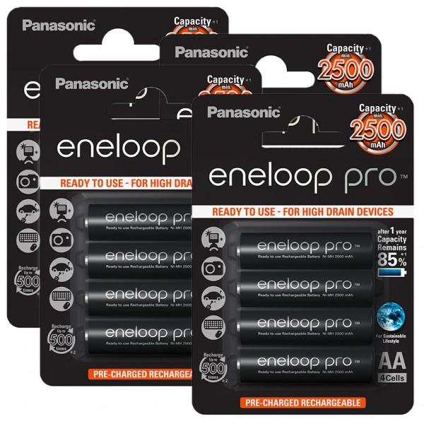 Panasonic eneloop PRO 16er Akku Pack AA BK-3HCDE Blister