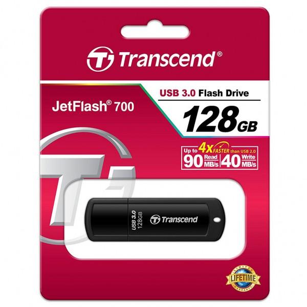 Transcend JetFlash 700 128 GB Super Speed USB 3.0 Stick TS128GJF700