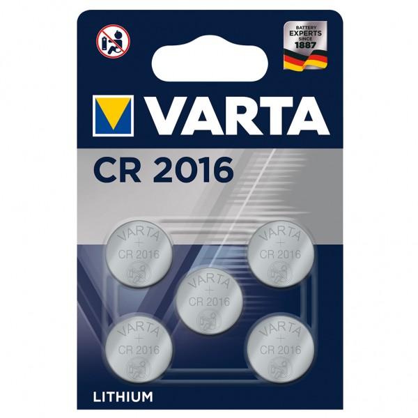 VARTA Batterie Lithium Knopfzelle CR2016 3V Professional Electronics 5er Blister