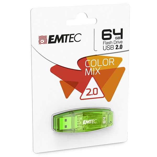 EMTEC USB FlashDrive 64 GB C410 (Grün) USB 2.0