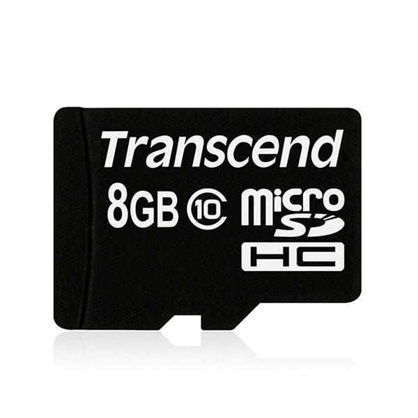 Transcend Micro SDHC 8 GB CARD ONLY Class 10 Speicherkarte TS8GUSDC10