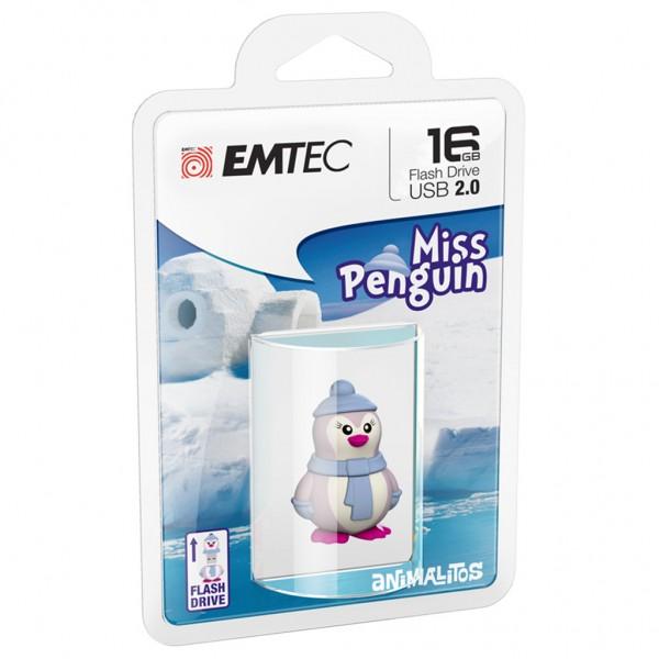 Emtec USB FlashDrive 16GB Animalitos (Miss-Pinguin)