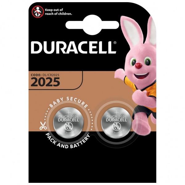 DURACELL 2er Blister Batterie Lithium Knopfzelle CR2025 3V