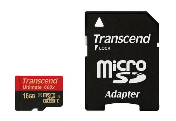 Transcend Micro SDHC 16 GB Class 10 UHS-1 600x Speicherkarte TS16GUSDHC10U1