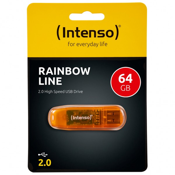 Intenso Rainbow Line USB Stick 64 GB orange