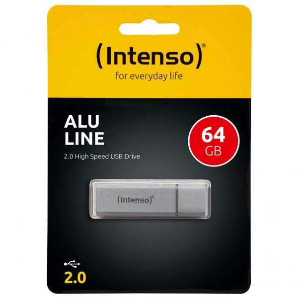 Intenso Alu Line 64 GB USB 2.0 Stick silber