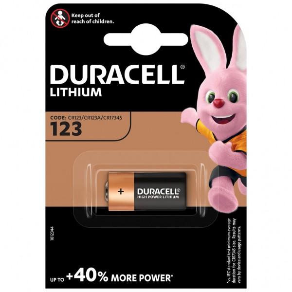 DURACELL 1er Blister Batterie Lithium CR123A 3V