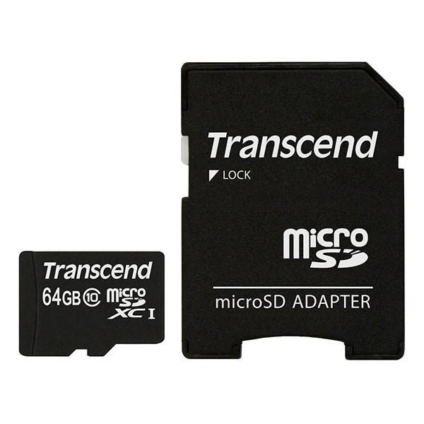 Transcend Micro SDXC 64 GB Class 10 Speicherkarte TS64GUSDXC10