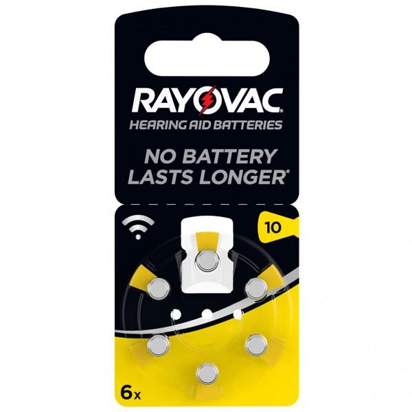 6 x RAYOVAC Hörgerätebatterie Zink - Luft Typ 10 1.45V 1 x 6er Blister