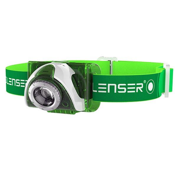 LED LENSER SEO3 grün weiß - LED Stirnlampe von Zweibrüder