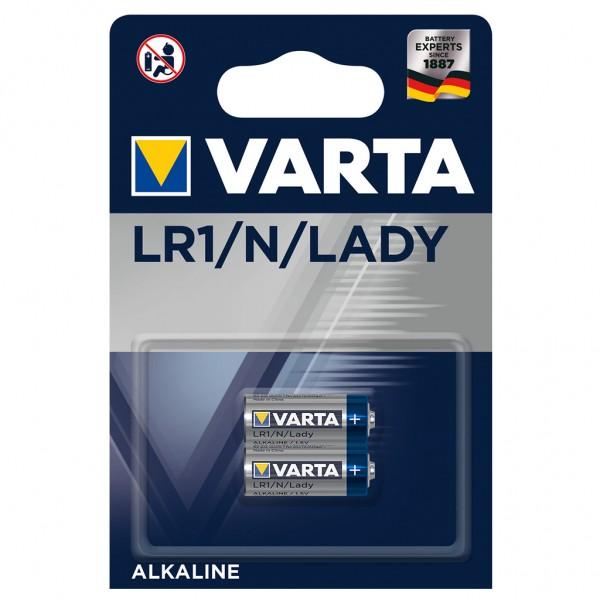 VARTA 2er Blister Batterie Alkaline 4001 LR1/Lady 1.5V Professional Electronics