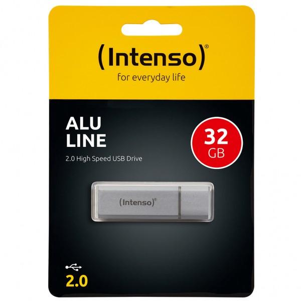 Intenso Alu Line 32 GB USB 2.0 Stick silber