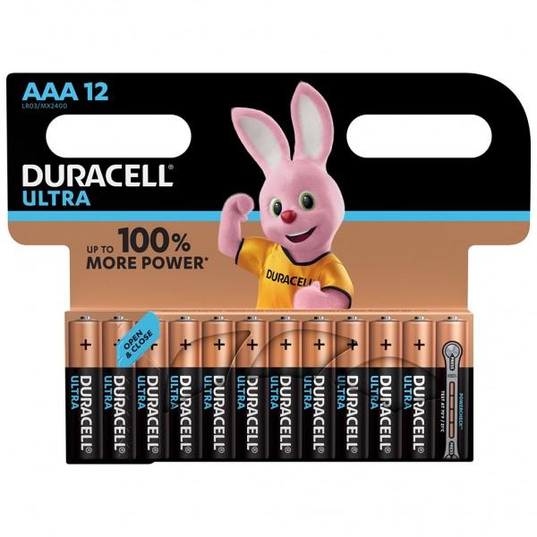 DURACELL AAA Ultra Power Batterie Alkaline Mignon LR03 1.5V 12er Blister