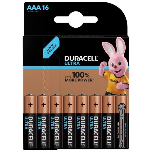 DURACELL AAA Ultra Power Batterie Alkaline Mignon LR03 1.5V 16er Blister