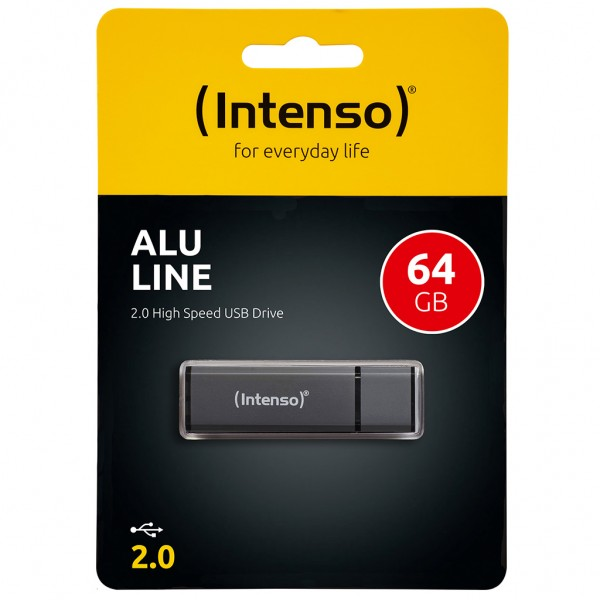 Intenso Alu Line 64 GB USB 2.0 Stick anthrazit