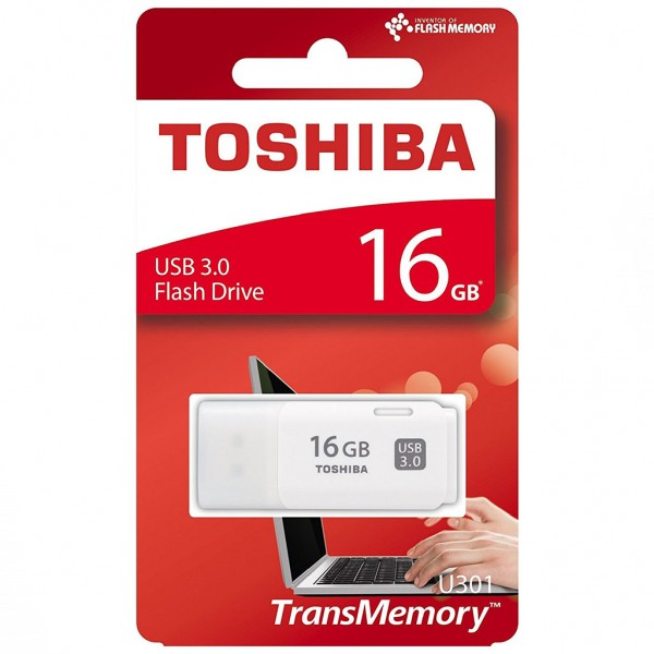 Toshiba USB 3.0 FlashDrive 16 GB Hayabusa U301 Blister (weiss)