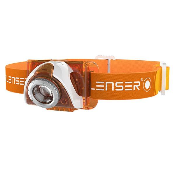LED LENSER SEO3 orange weiß - LED Stirnlampe von Zweibrüder