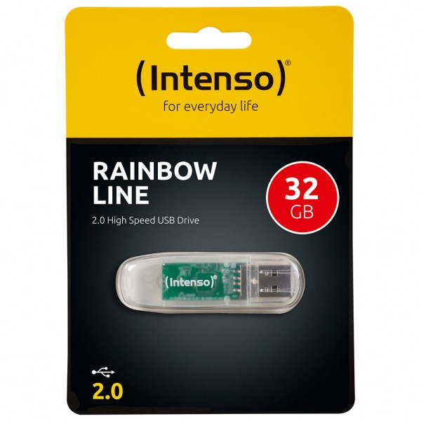 RETAIL Intenso Rainbow Line USB Stick 32 GB transparent