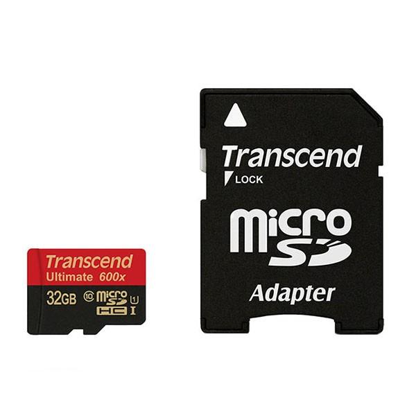 Transcend Micro SDHC 32 GB Class 10 UHS-1 600x Speicherkarte TS32GUSDHC10U1