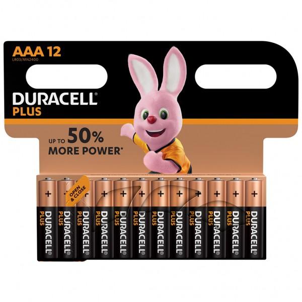 DURACELL AAA Plus Power Batterie Alkaline Mignon LR03 1.5V 12er Blister
