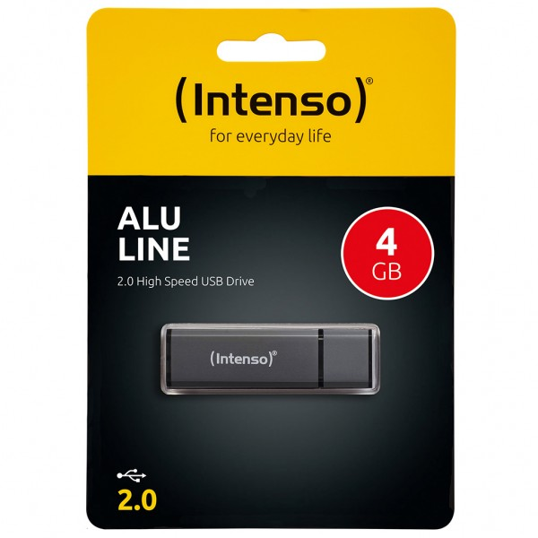 Intenso Alu Line 4 GB USB 2.0 Stick anthrazit