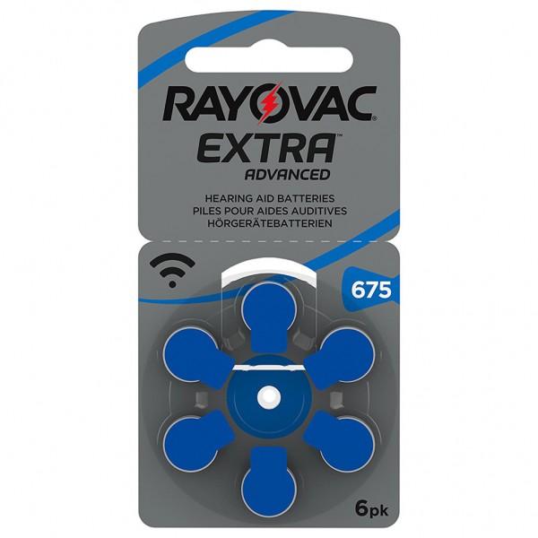 6 x RAYOVAC EXTRA Hörgerätebatterie Zink - Luft Typ 675 1.45V 1 x 6er Blister