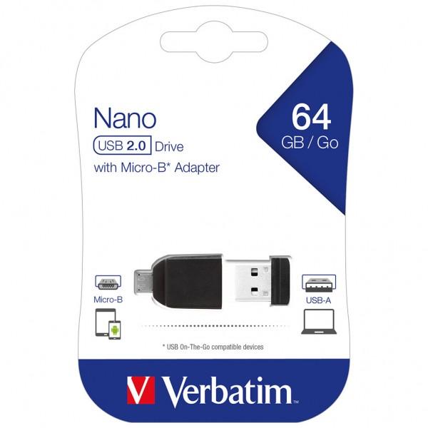 Verbatim USB OTG 64 GB Store 'n' Go Nano Drive