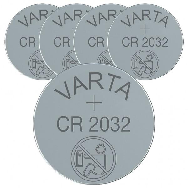 VARTA 5er Batterie Lithium Knopfzelle CR2032 3V bulk