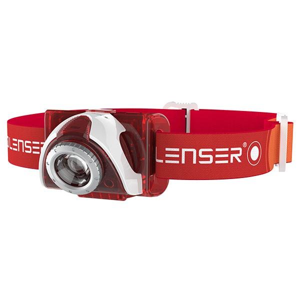 LED LENSER SEO5 rot - LED Stirnlampe von Zweibrüder